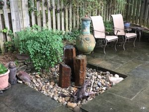 3 Basalt Column Fountainscape Arlington VA